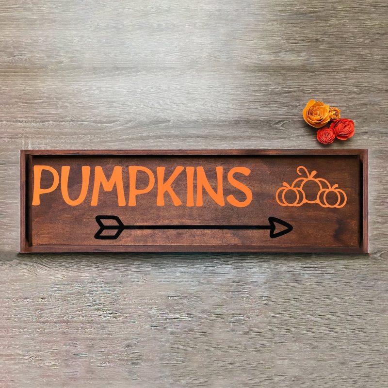Pumpkins autumn sign
