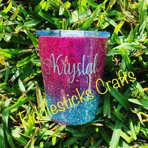 Custom Name Glitter Tumbler