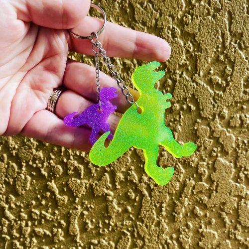 T-Rex Family Keychain