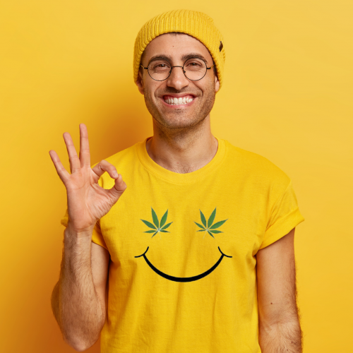 weed smile