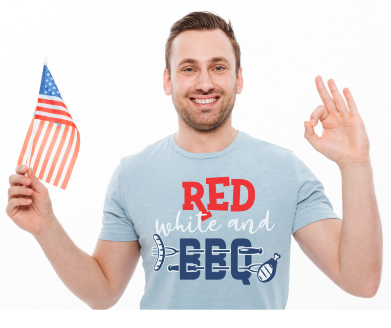 red white and bbq